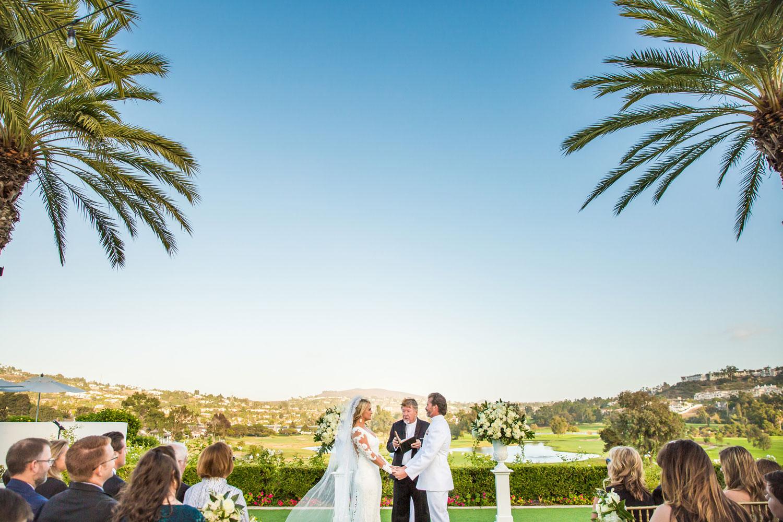 Wedding ceremony Omni La Costa Resort in San Diego military wedding