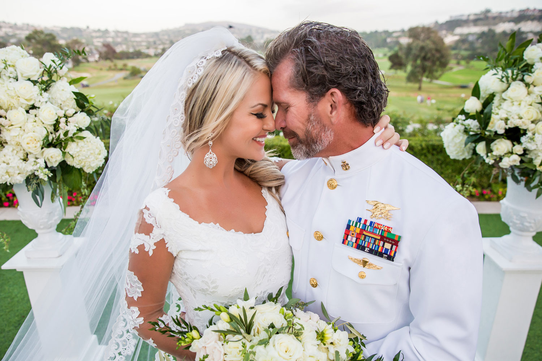 Navy Seal dress whites military wedding portrait
