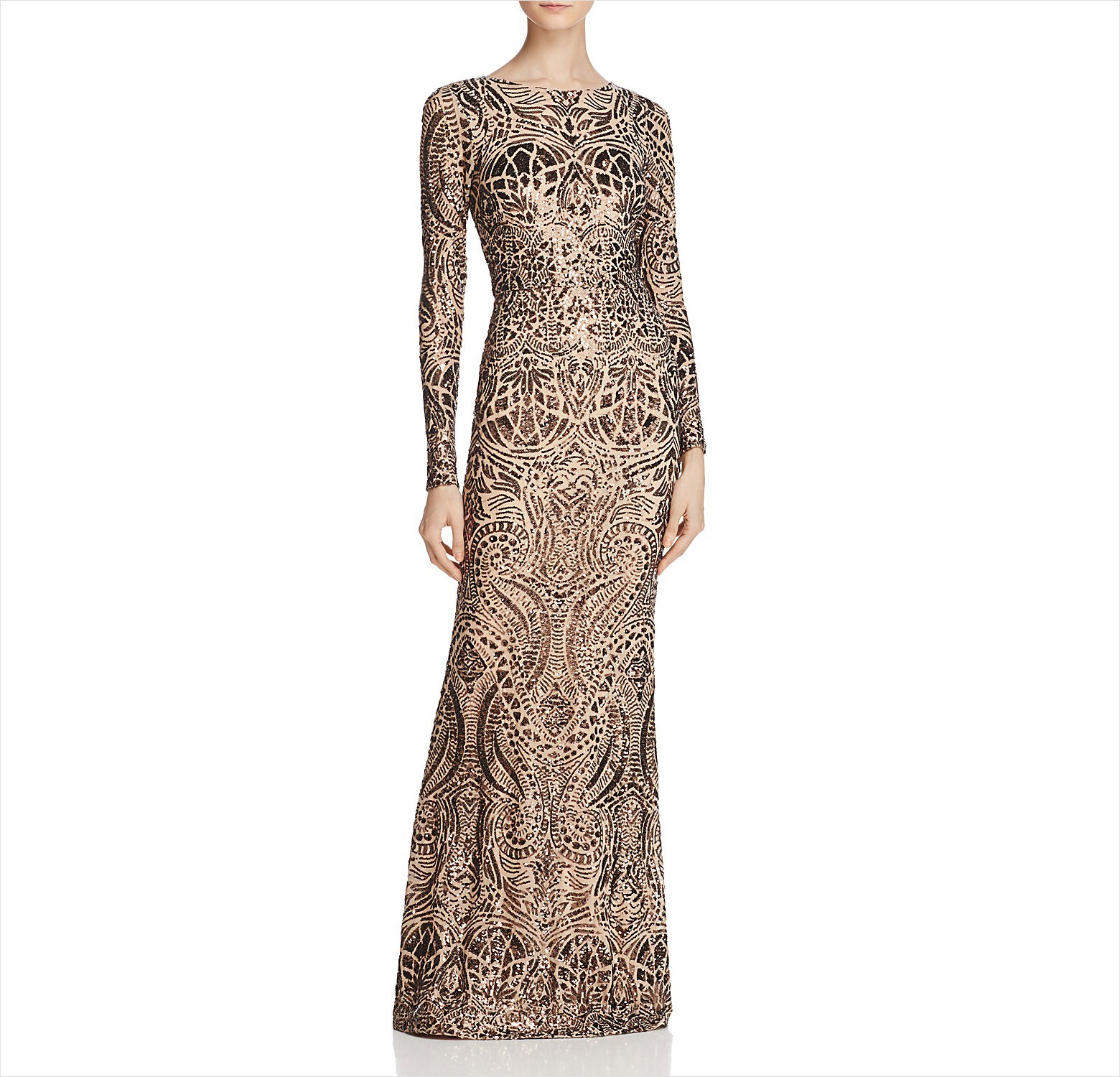 Long sleeve sparkly wedding guest dress ideas Avery G Bloomingdales