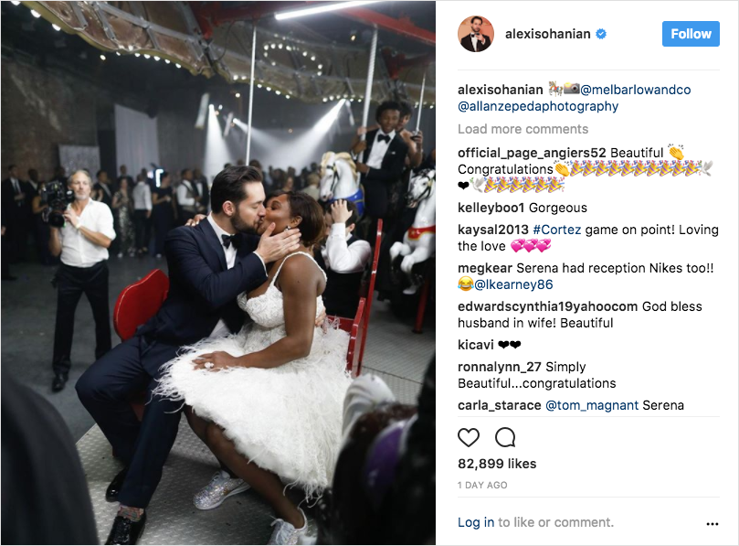 serena williams and alexis ohanian wedding carousal