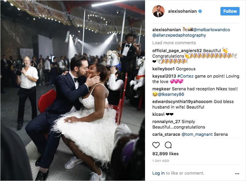 serena williams and alexis ohanian wedding carousal