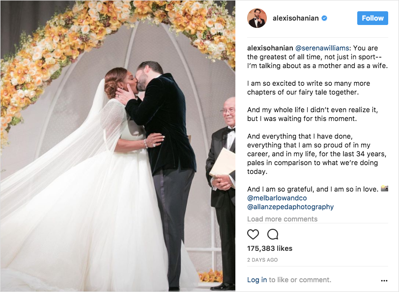 serena william and alexis ohanian wedding ceremony