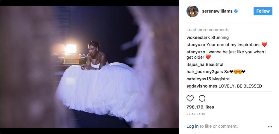 serena williams wedding photo alexander mcqueen ball gown