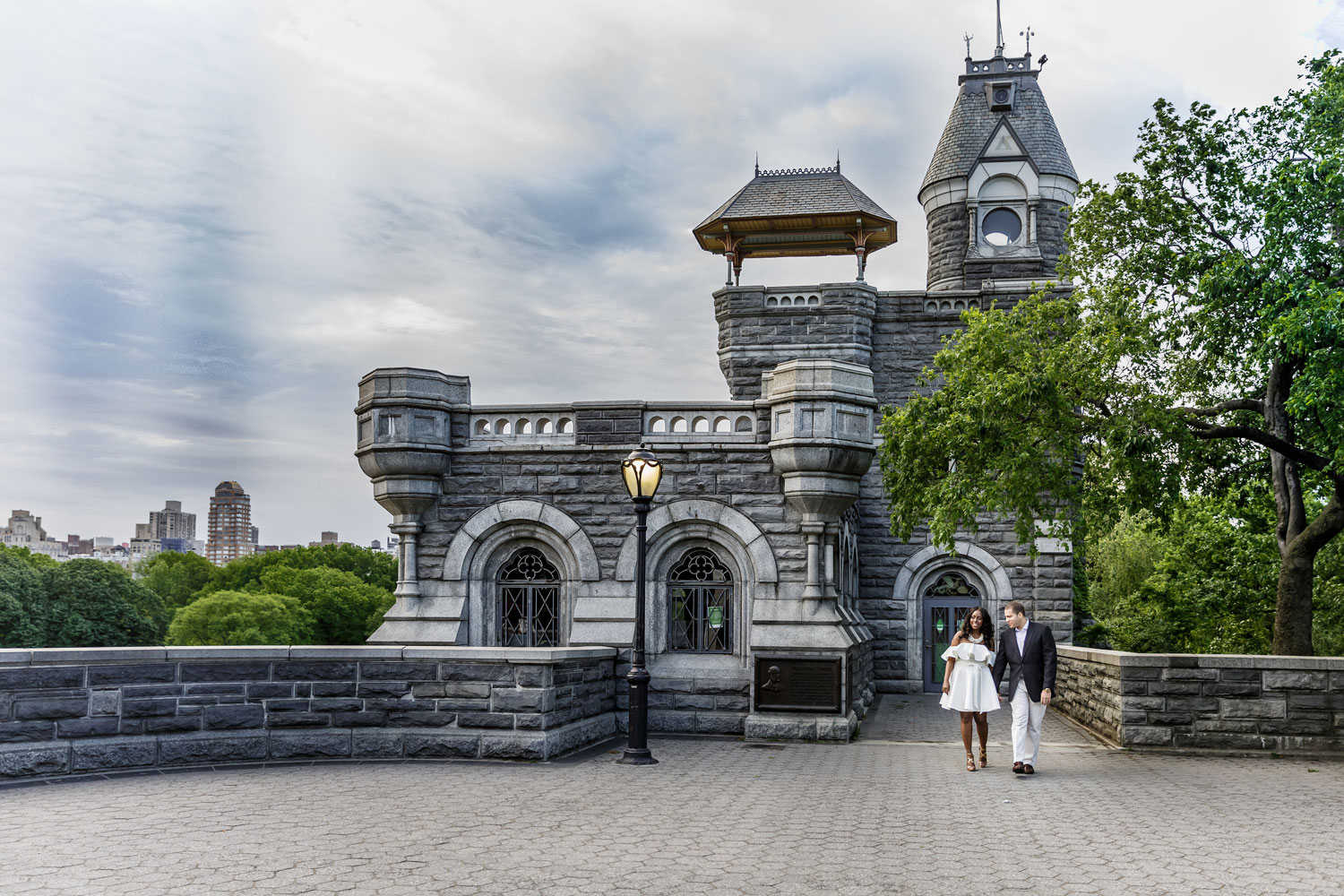 New York City central park engagement session photo by Amy Anaiz Belvedere Castle