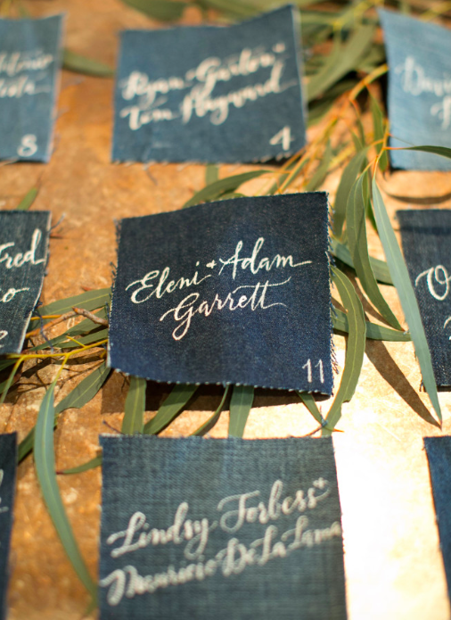 Fabric escort cards unique place card ideas