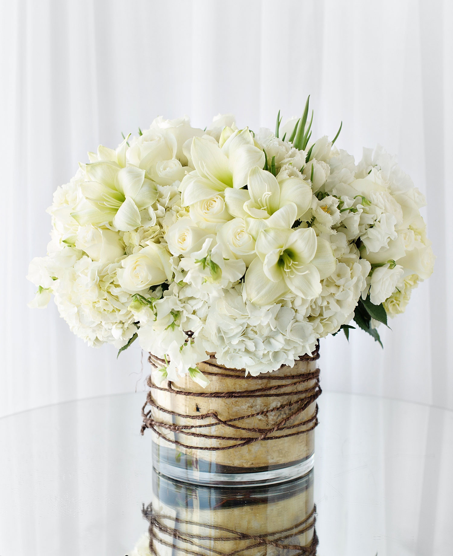 Hidden Garden Flowers white flower centerpiece