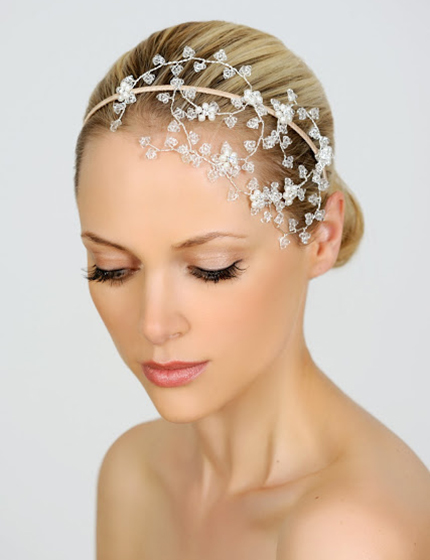 Dimitra's Bridal Couture Halo and Co headpiece