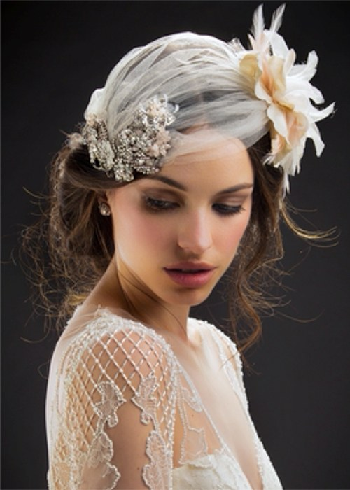 Maria Elena Headpieces from Kleinfeld Bridal