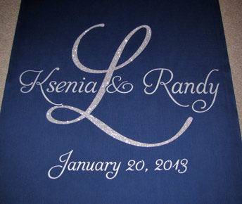 Something blue aisle runner from the original runner company