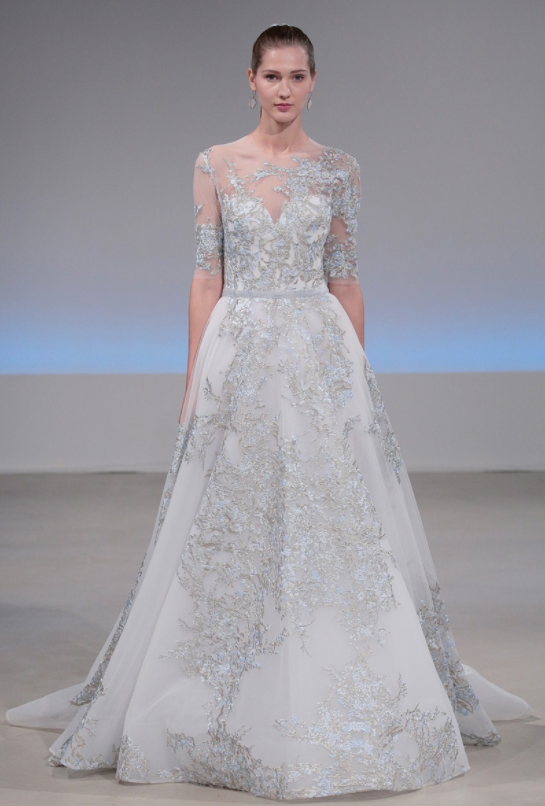 Isabelle Armstrong frosted blue wedding dress something blue
