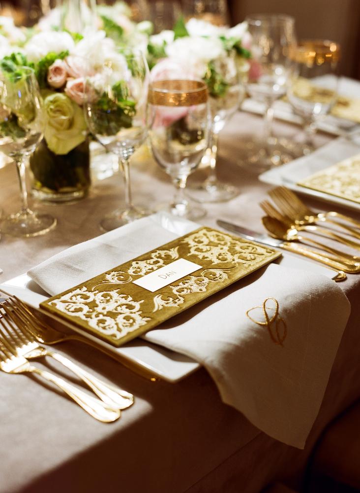 Velvet menu card wedding reception ideas