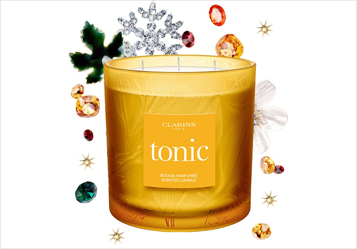 Clarins holiday candle tonic scent holiday gift guide