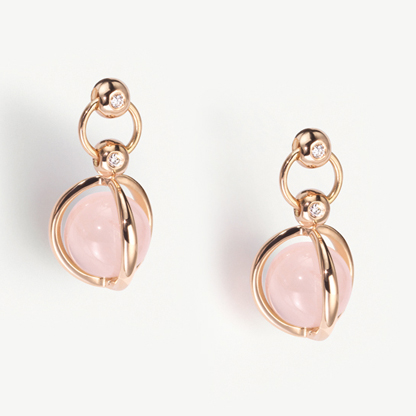 Furrer Jacot rose gold rose quartz earrings holiday gift guide
