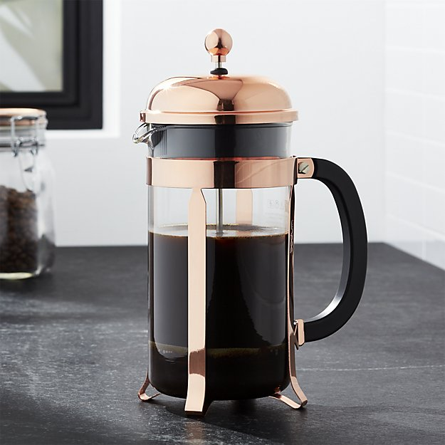 Copper french press coffee maker holiday gift guide