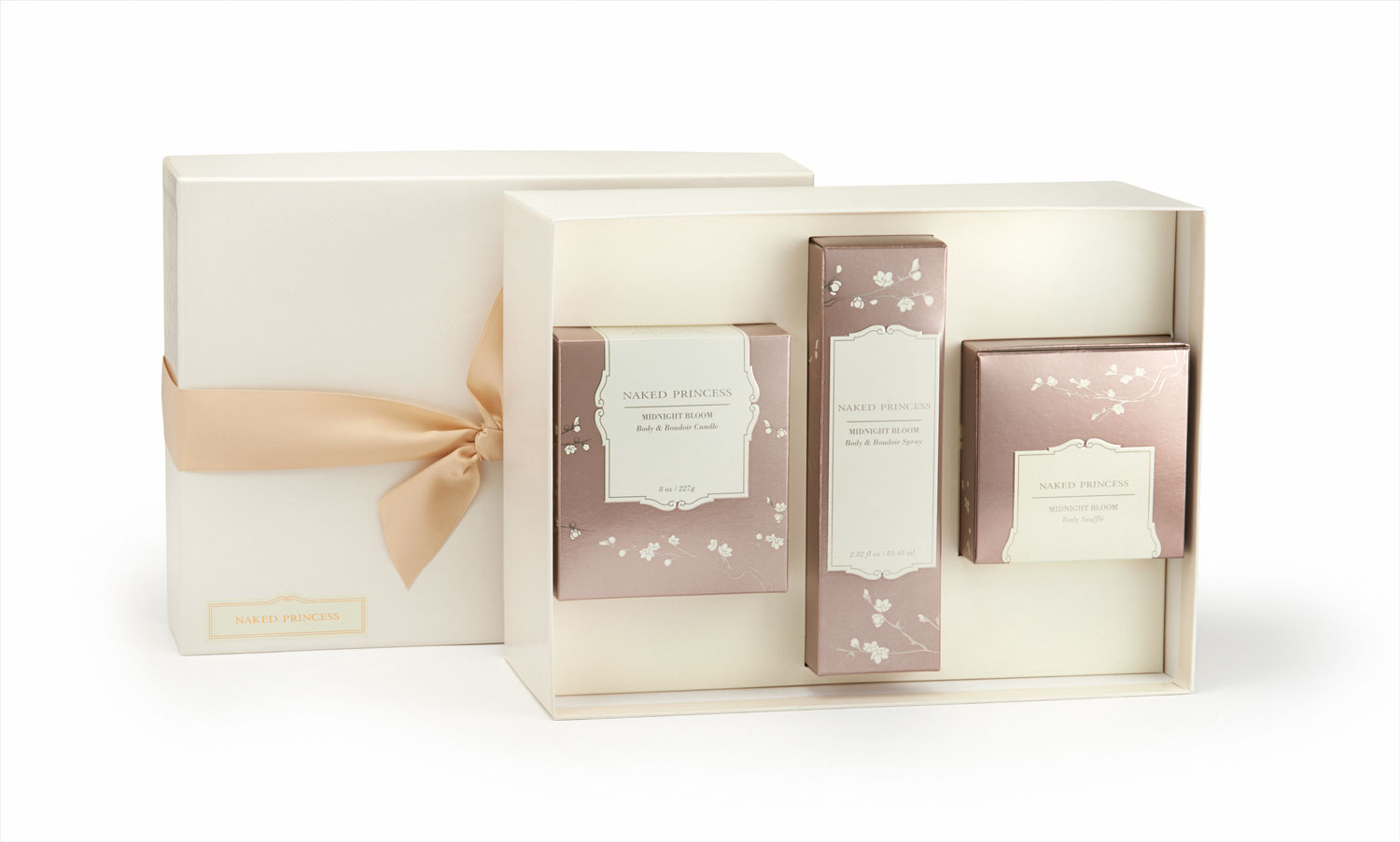 Naked Princess boudoir essentials gift set spray souffle and candle