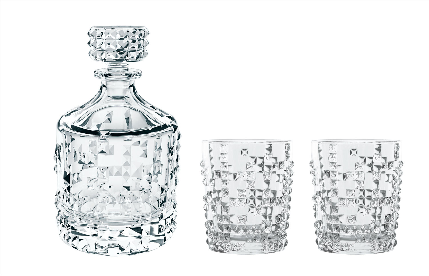 Nachtmann punk decanter and tumbler glass set holiday gift guide
