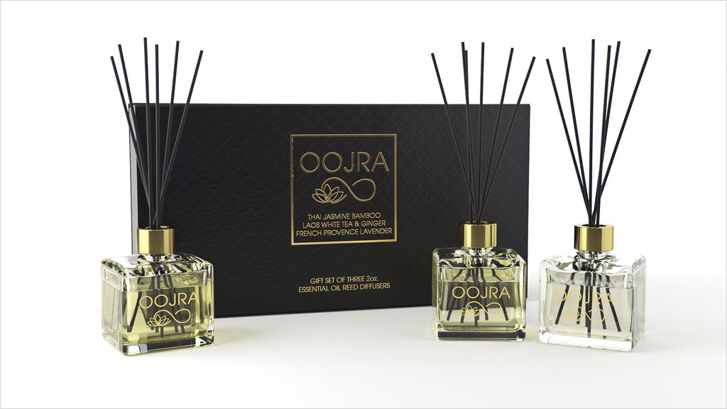OOJRA three set gift essential oil reed diffusers holiday gift guide