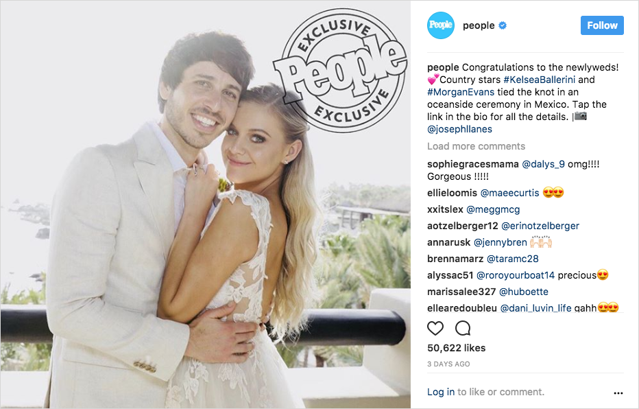 kelsea ballerini and morgan evans wedding photo