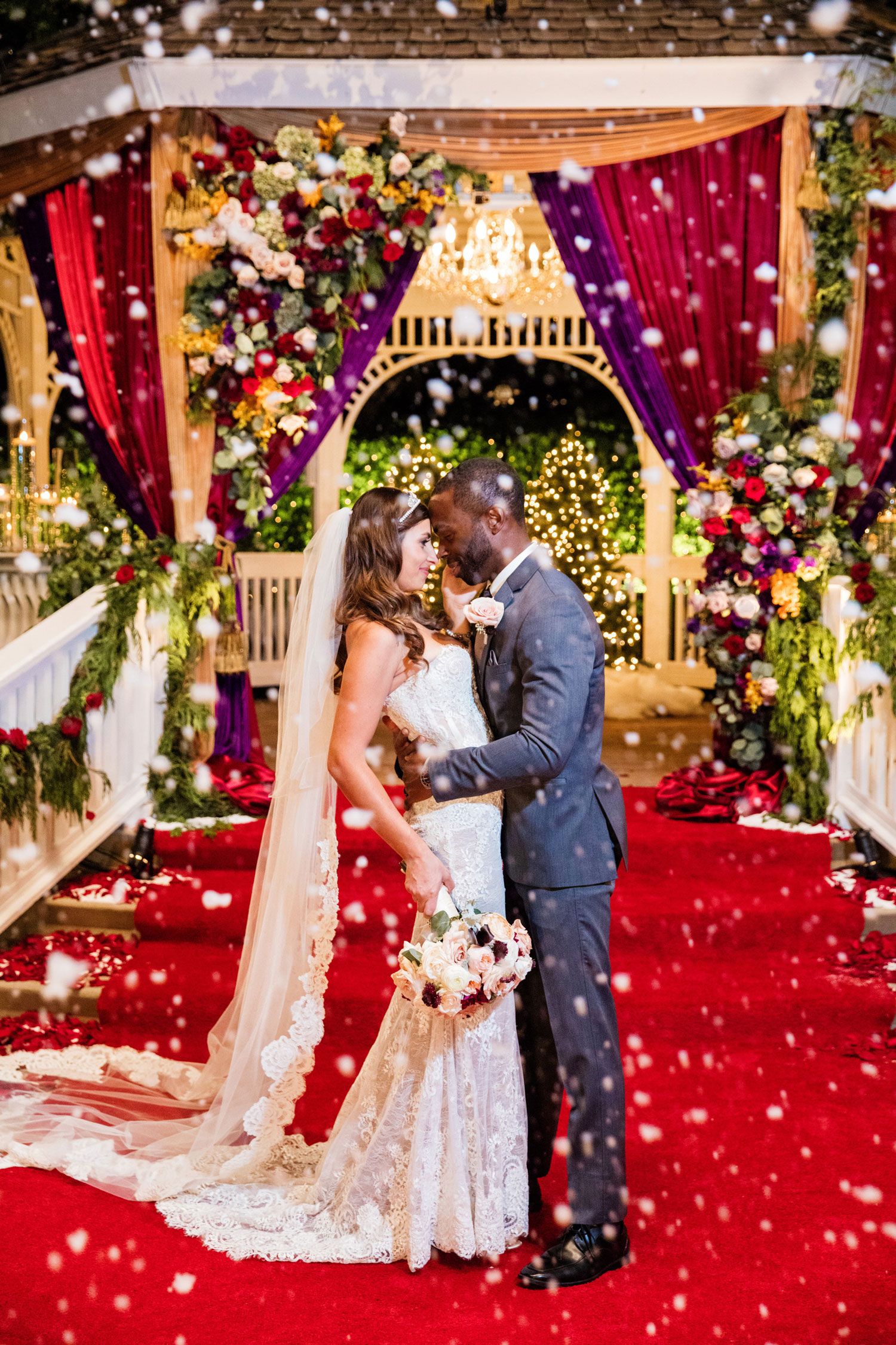 Disney's Fairy Tale Weddings Holiday Magic Melanie and Greg couple photo ceremony