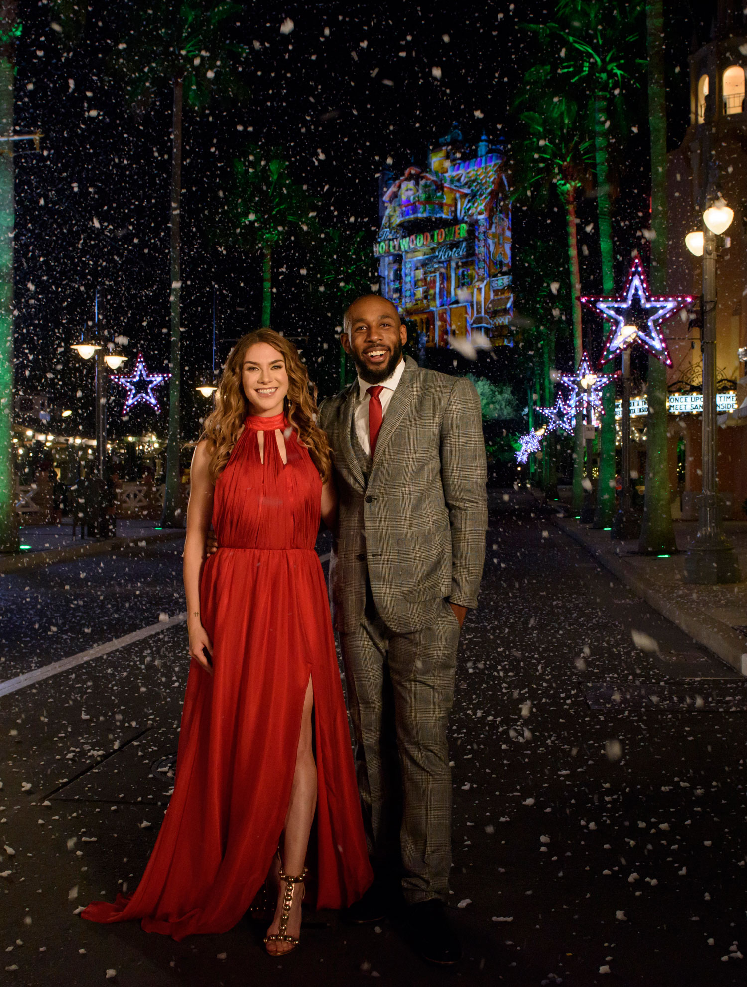 tWitch and Allison Holker host Disney Fairy Tale Weddings Holiday Magic special on Freeform