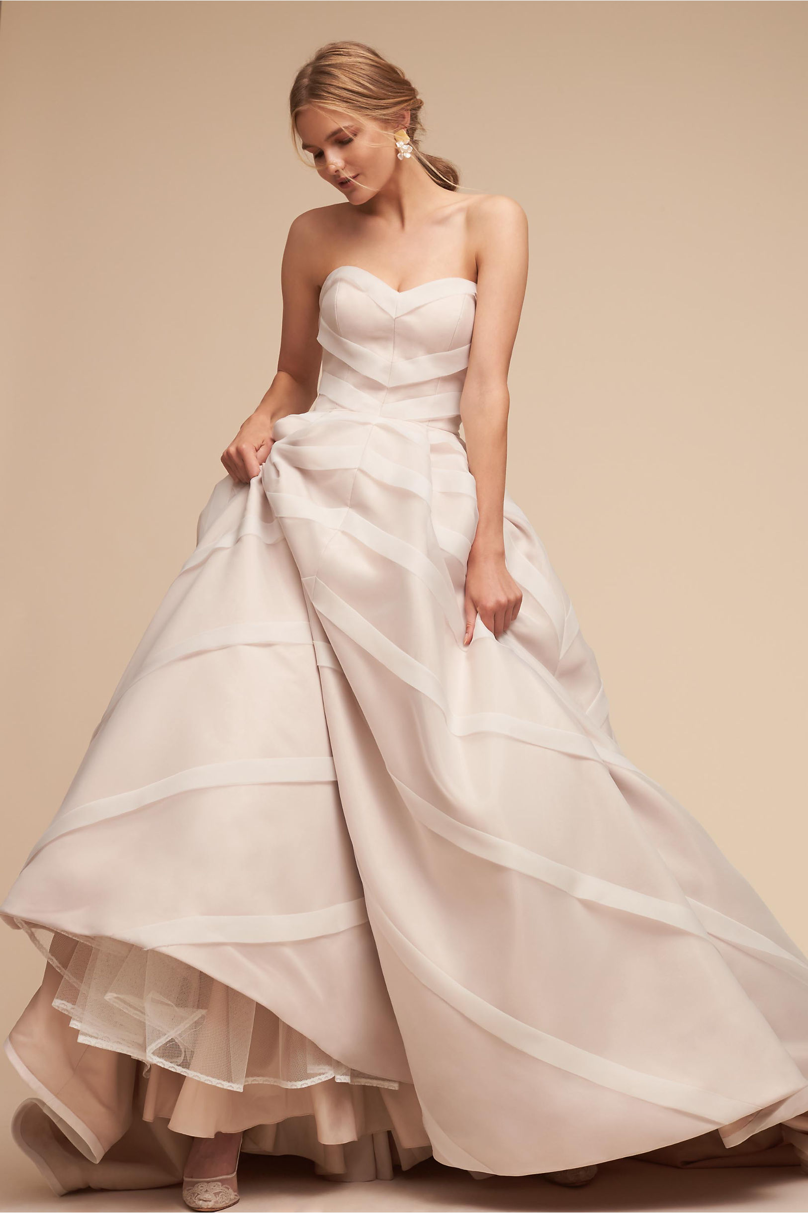 Carlton strapless organza ball gown wedding dress whispers and echoes bhldn spring 2018