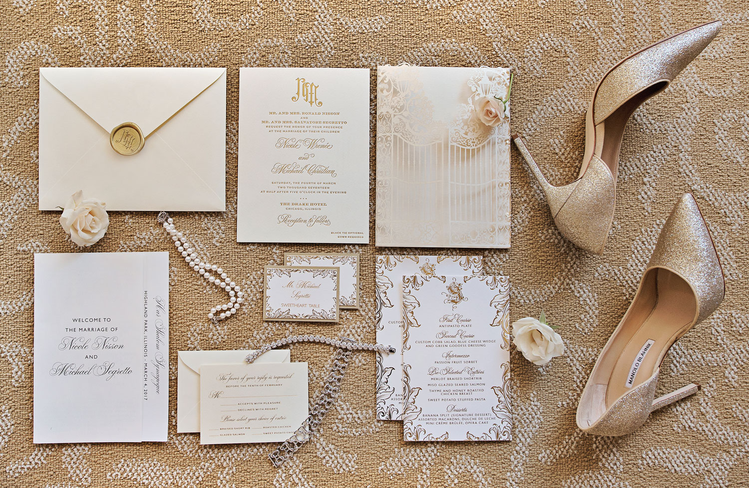 Inside Weddings winter 2018 issue preview real weddings wedding ideas sophisticated invitation suite