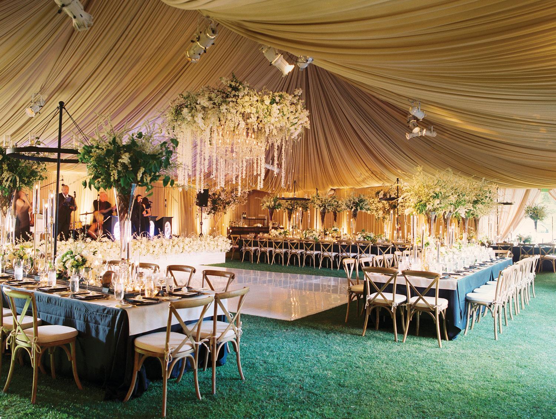 Inside Weddings winter 2018 issue preview real weddings wedding ideas tent wedding