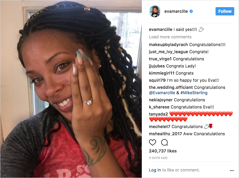 eva marcille engaged to michael sterling