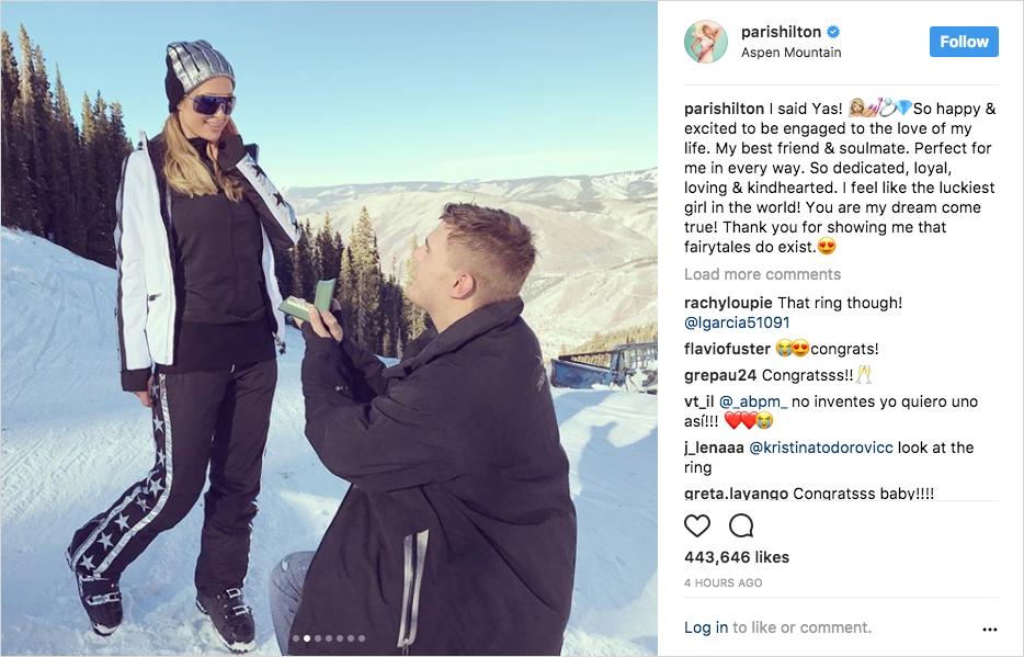 paris hilton and chris zylka engaged in aspen