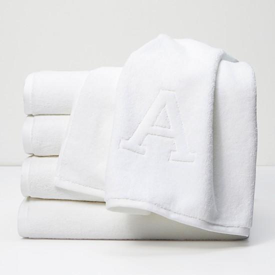 White monogram towels wedding registry ideas