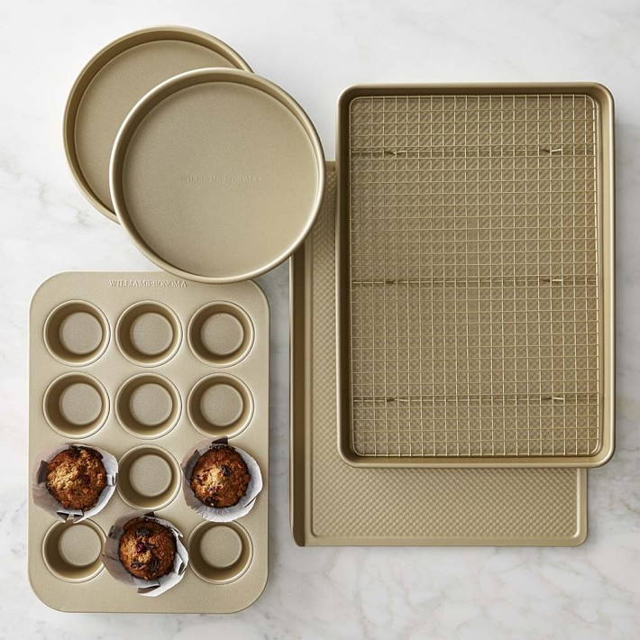 Goldtouch nonstick six piece bakeware set williams-sonoma wedding registry ideas