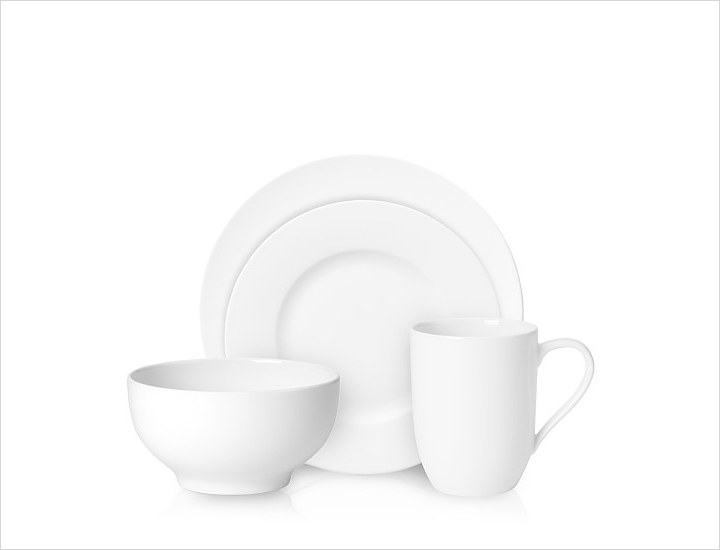Neutral plates place setting wedding registry ideas