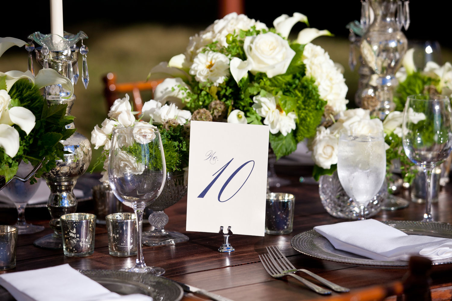 EVOKE Washington DC wedding planner table number on reception table