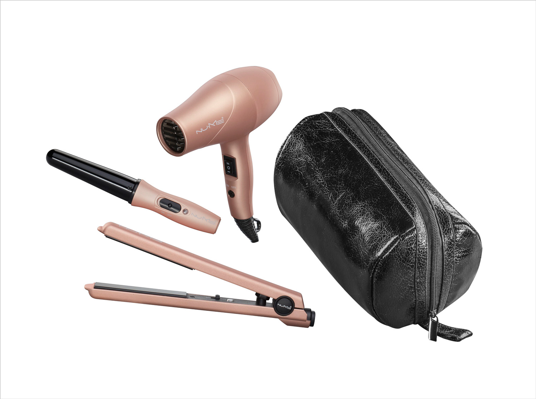 Jet Setter Pro travel set of hair dryer, hair curler, hair straightener bridal beauty ideas honeymoon