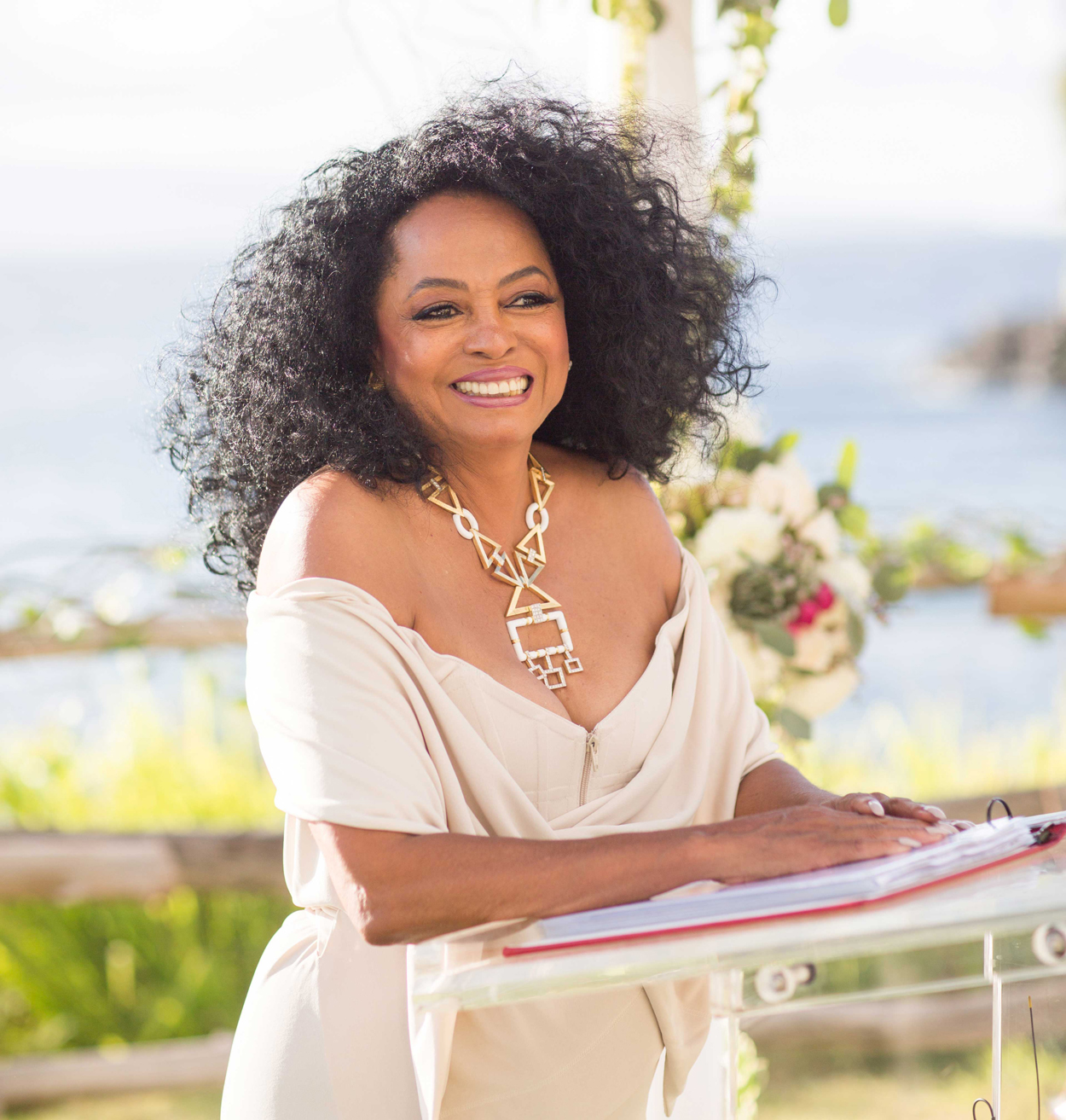 diana ross officiates chudney ross's wedding, celebrities officiated weddings