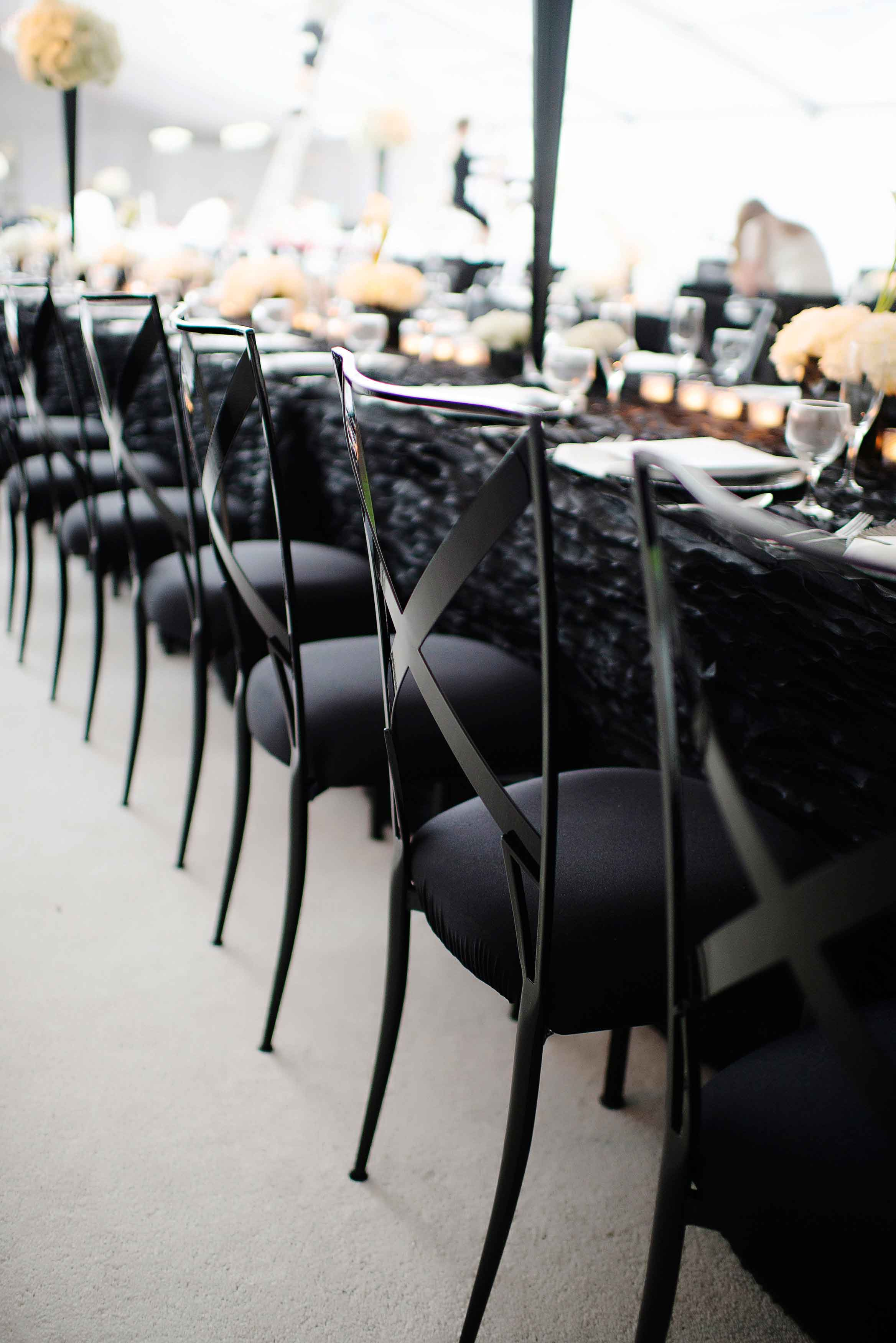 Black wedding reception chairs wedding ideas