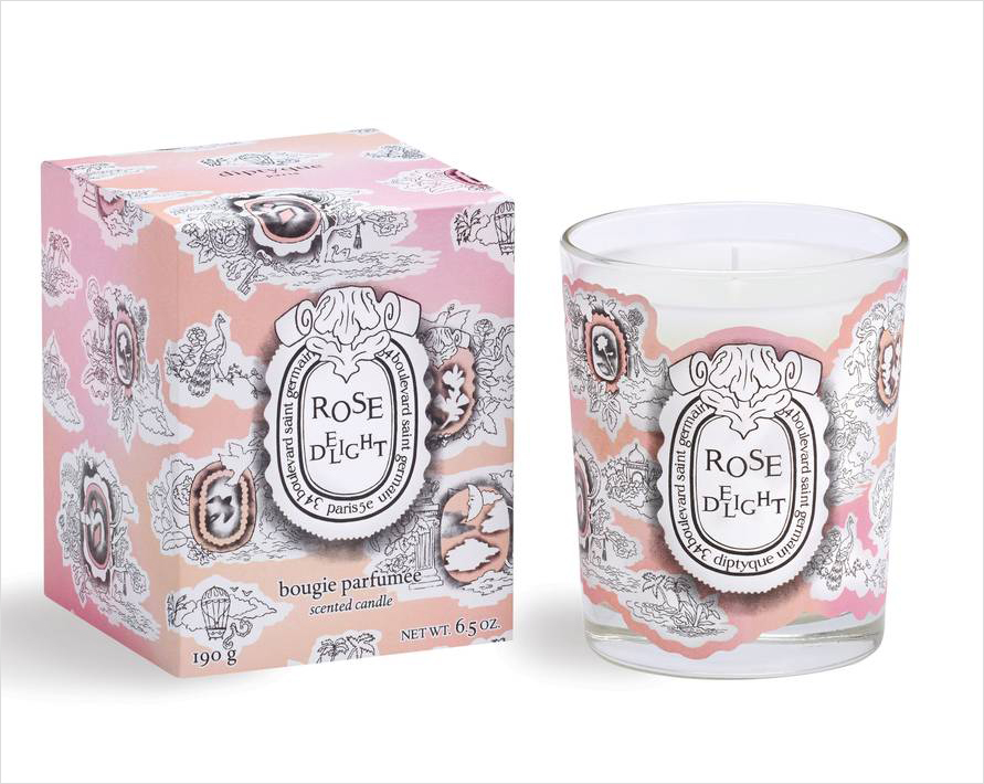 Diptique rose delight candle wedding gift valentine's day gift ideas