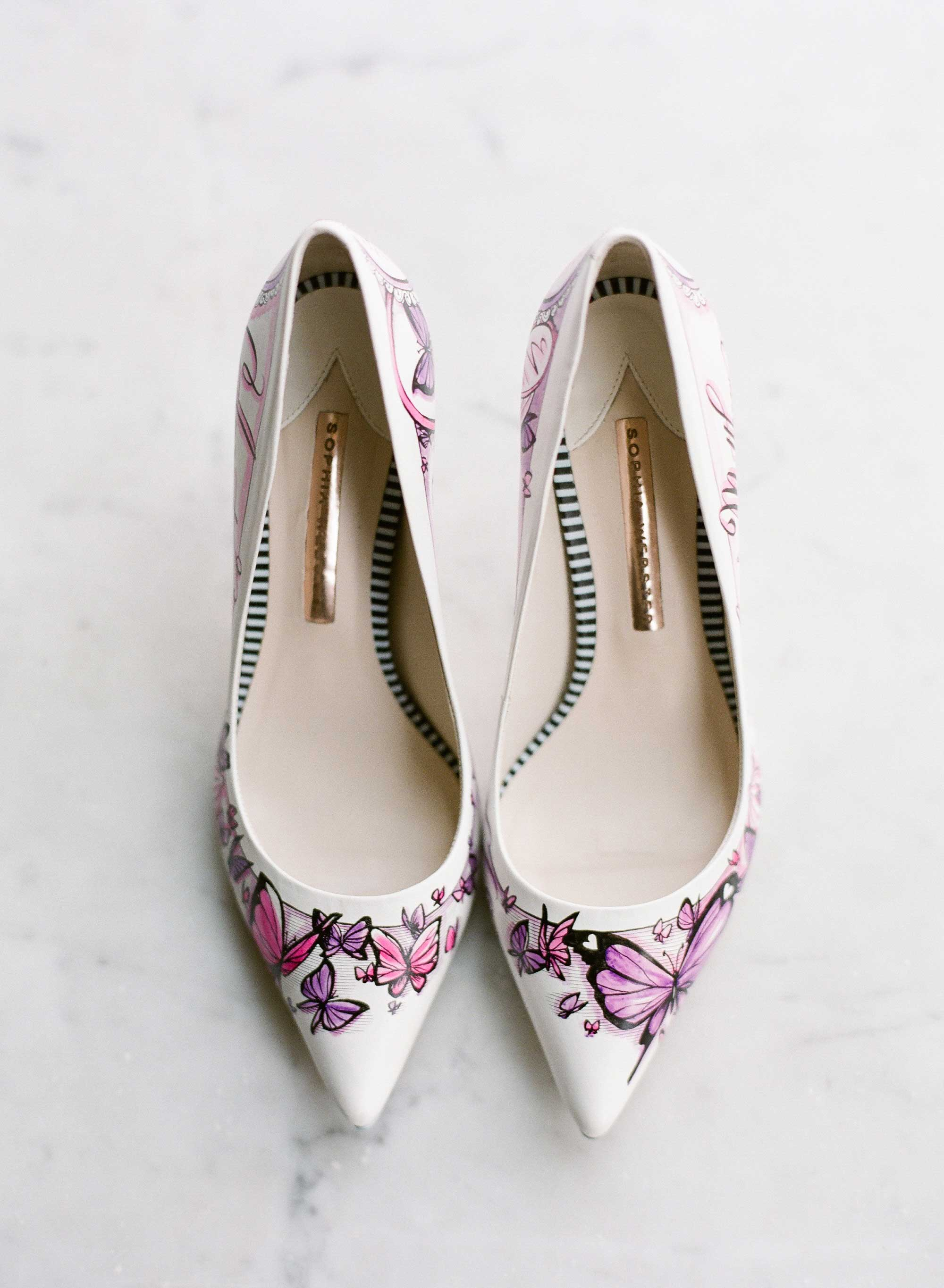 Hand painted figge couture wedding shoes that aren't boring
