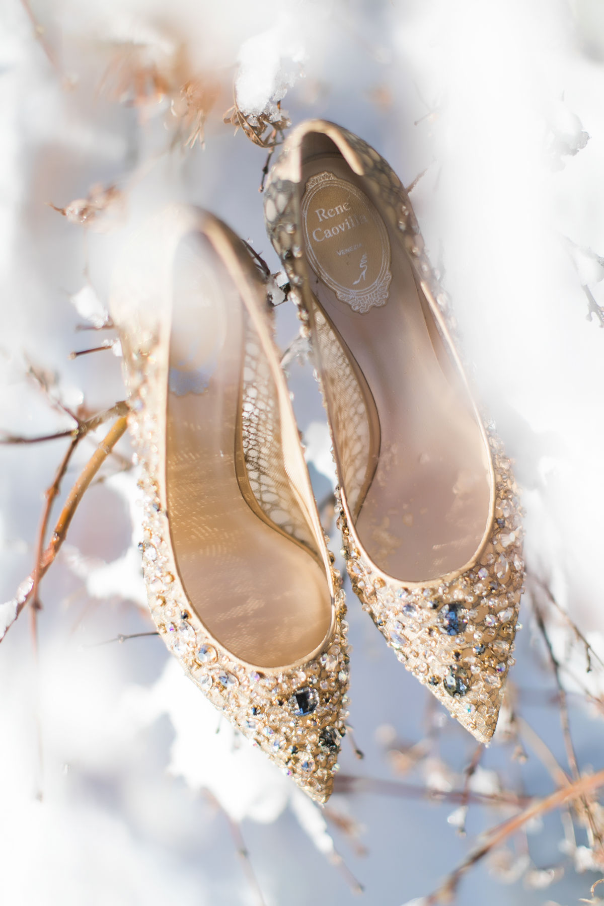 Wedding shoes that aren't boring gold sequin heels