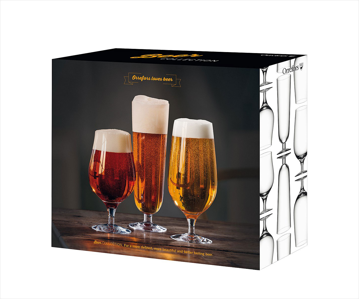 Orrefors beer collection glasses valentine's day gift ideas for him