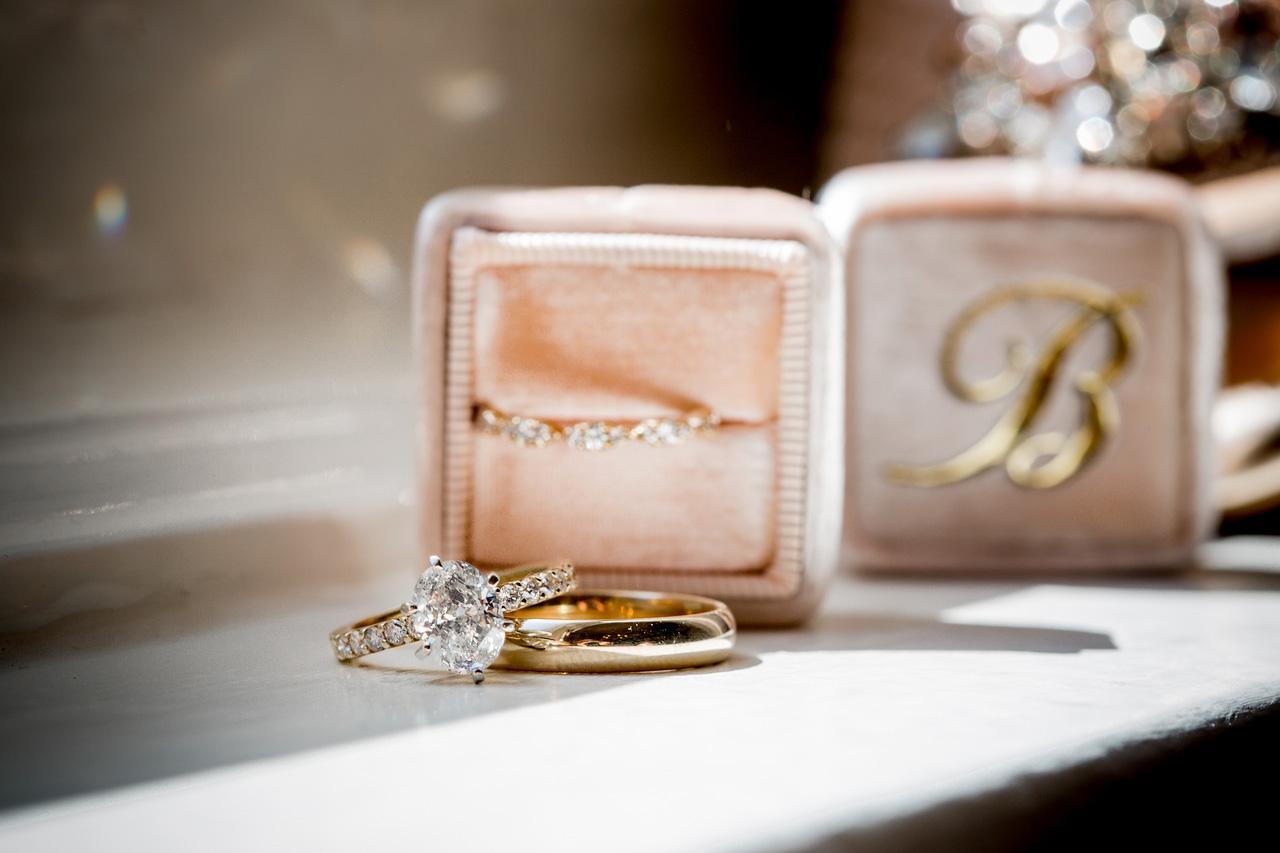 Pink velvet engagement ring box for wedding photos the mrs box