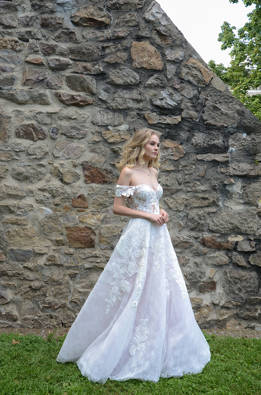 Charleigh wedding dress with sweetheart neckline by Barbara Kavchok formerly Eugenia Couture