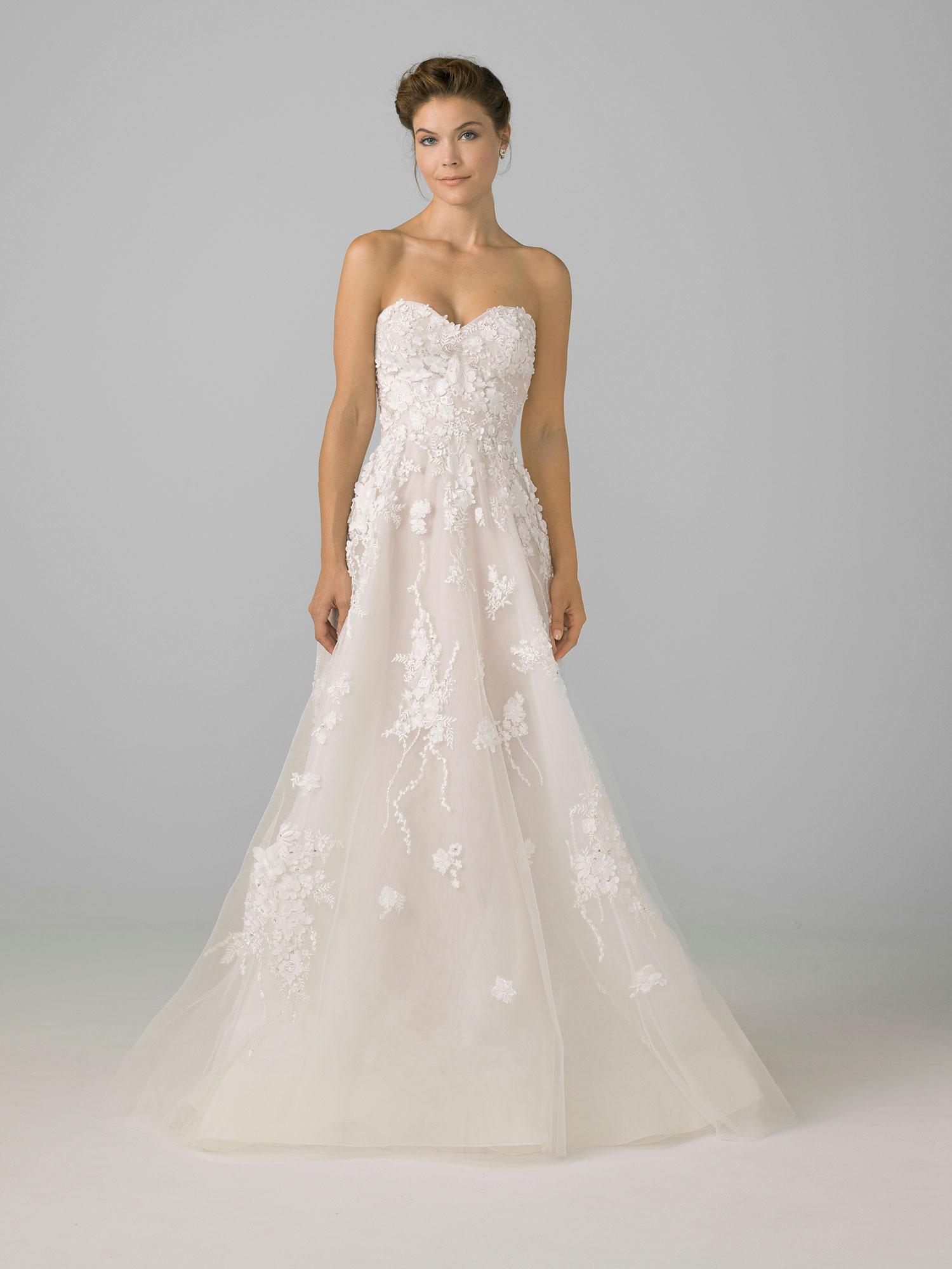 Sweetheart neckline a line wedding dress azul by liancarlo
