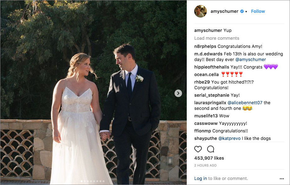 amy schumer chris fischer wedding in malibu monique lhulillier dress