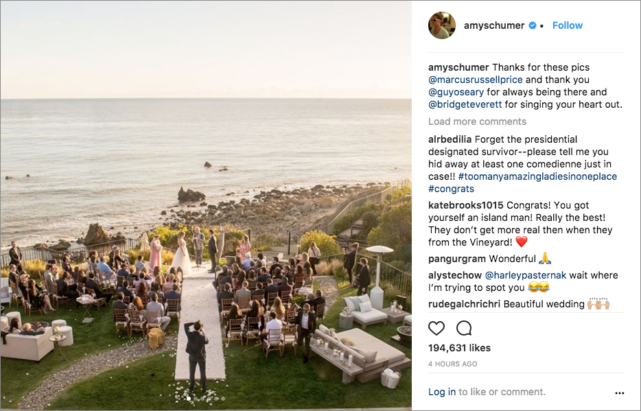 amy schumer chris fischer wedding in malibu