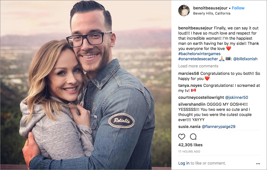 Clare Crawley and benoit engaged on bachelor winter games