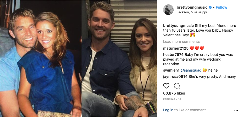brett young with fiancée taylor mills