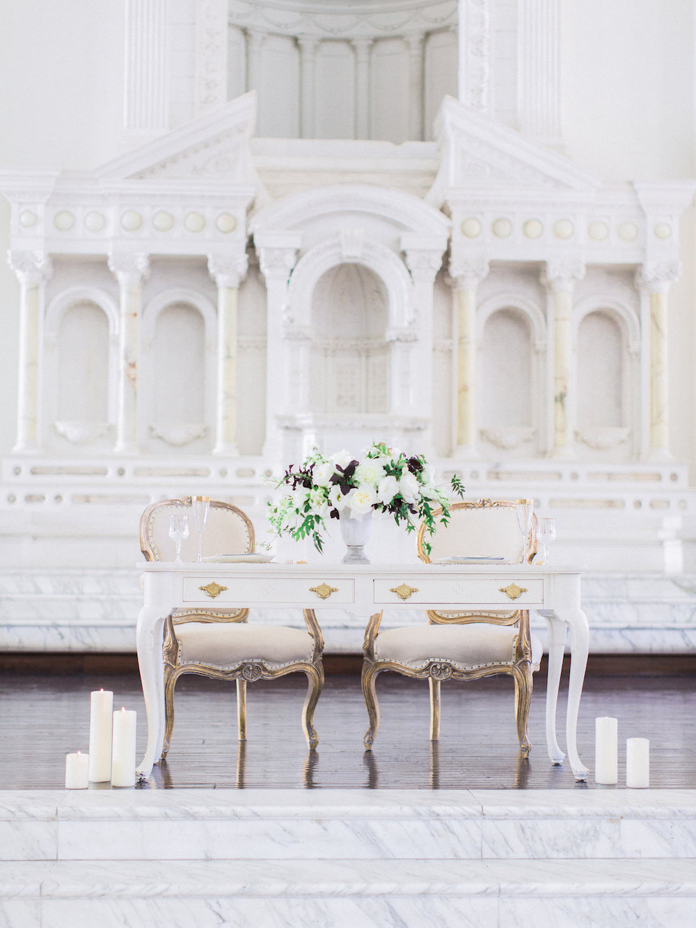 Wedding venue vibiana with marble steps and altar