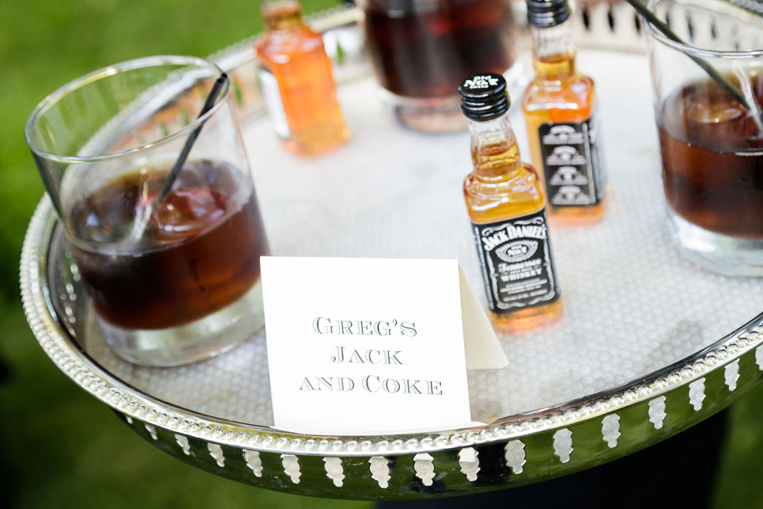 Personalize wedding signature cocktails at cocktail hour