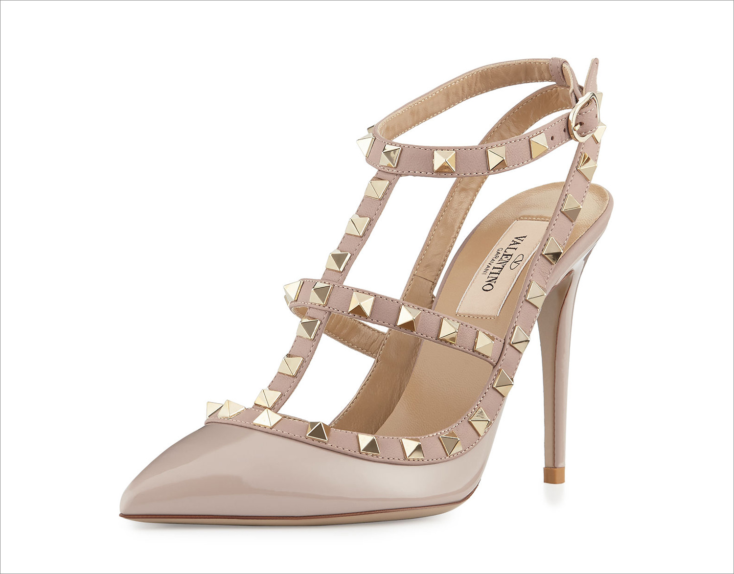 Popular wedding shoes valentino pump with studs slingback sling back
